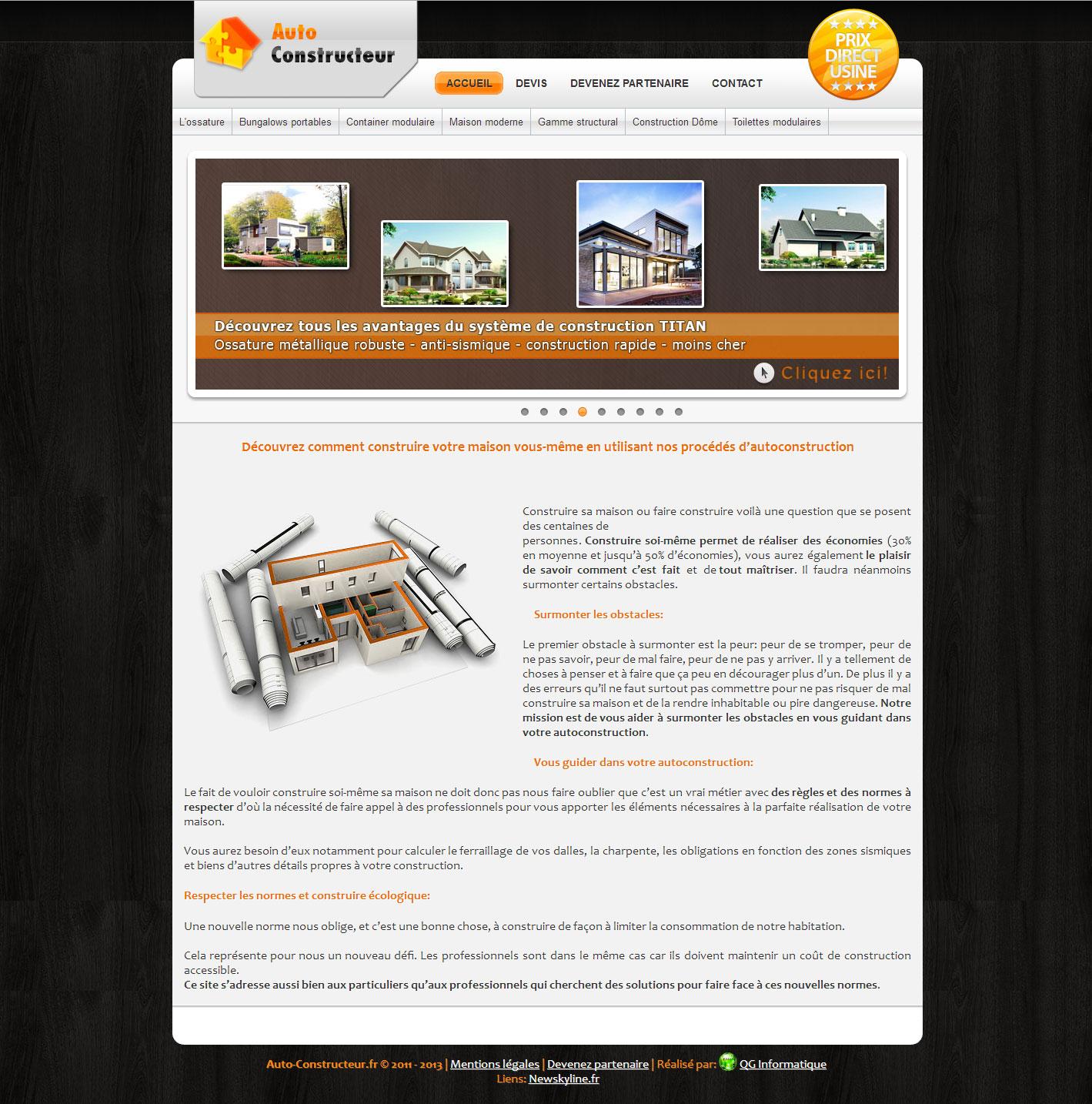 Site dynamique auto qg informatique for Site constructeur